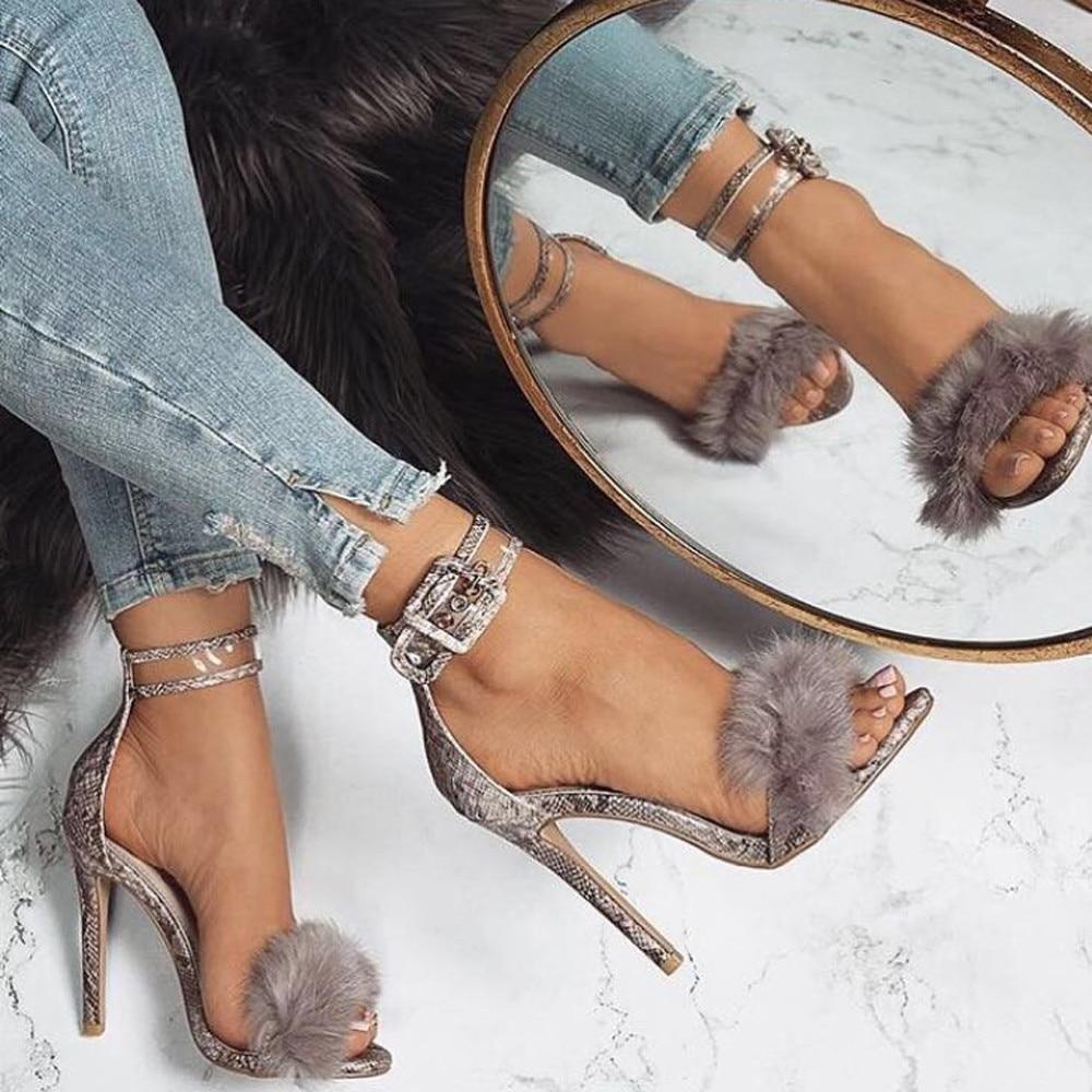 Sandals Shoes Footwear Platform Suede High-Heels Sexy Wedding--Smt Female Pu