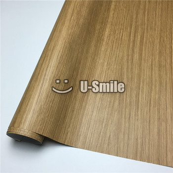 Oak Wood Vinyl Film Adhesive Backed Sheet For Wall Furniture Car Interior Size:1.24X50m/Roll(4ftX165ft)