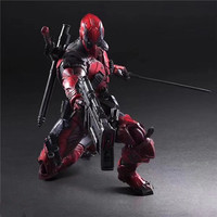 26cm Play Arts Deadpool Action Figures Doll Super Hero X Man Playarts PA Deadpool Jointed Toy Kids Boy Christmas Gift