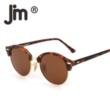 JM Retro Polarized Sunglasses Circle Lens for Men Women Smal