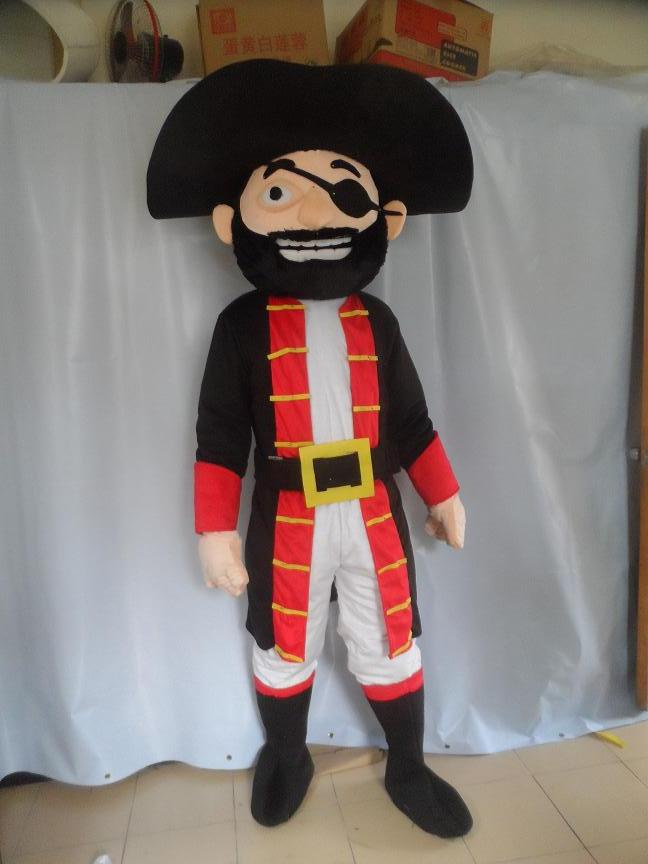 High quality adult size Popular Big Beard Pirate Mascot Costume Character Halloween Costumes Fancy Dress Suit Free Shipping