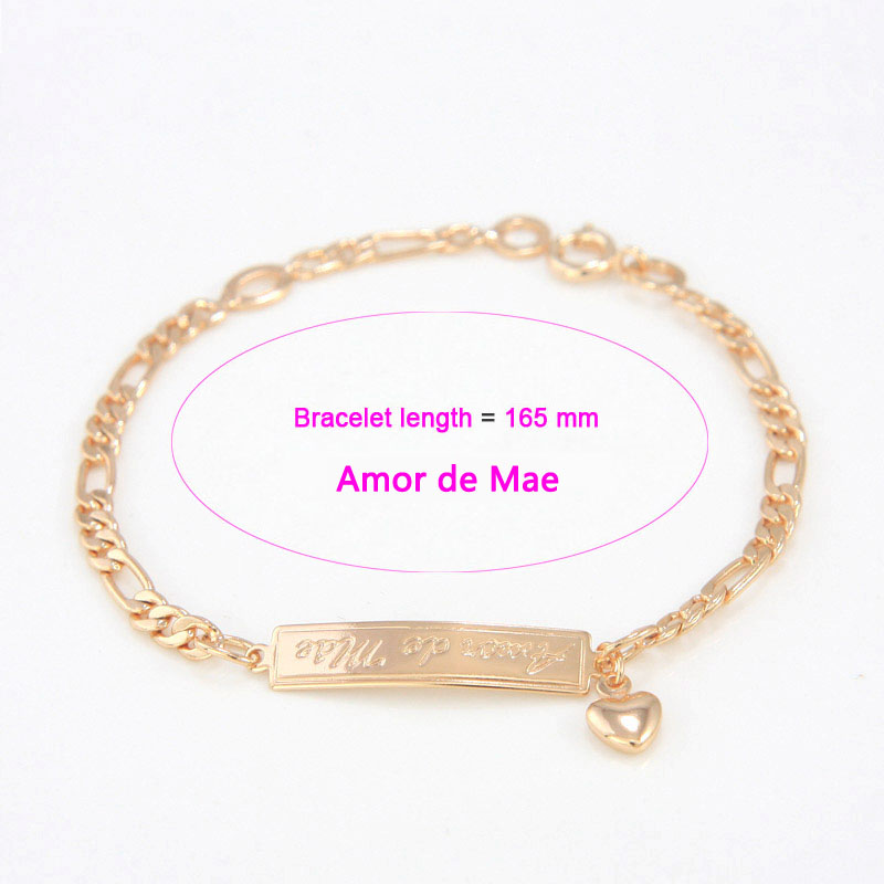 Us 38 35 Offamor De Paimae 165mm Baby Armband Gold Kinder Schmuck Herz Pulsera Bebe Bracelete Bracciali Nina Mädchen Jungen Braclet B01pai In