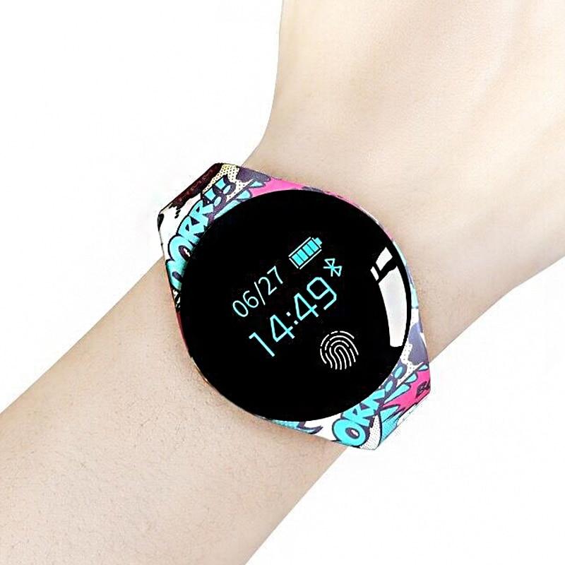 Kleur Touch Screen Smartwatch bewegingsdetectie Smart Horloge Sport Fitness Mannen Vrouwen Wearable Apparaten Voor IOS Android