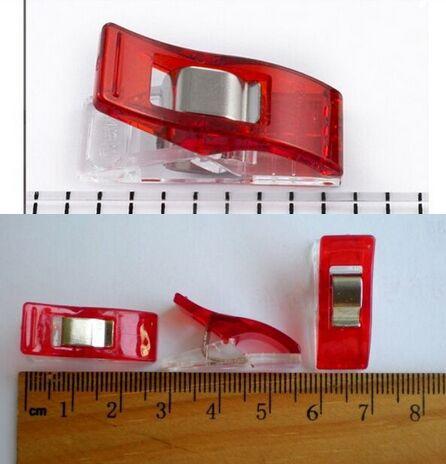 5000 ชิ้นสีแดงพลาสติก PVC สำหรับงานฝีมือ DIY, quilt คลิป Clover Wonder คลิป 2.7*1 เซนติเมตร-ใน คลิปเสื้อผ้า จาก บ้านและสวน บน   3