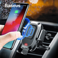 Baseus 10W Wireless Charger Car Phone Holder For iPhone XR Samsung Note 9 S9 Car Holder Smart Sensor Car Wireless Charger Holder