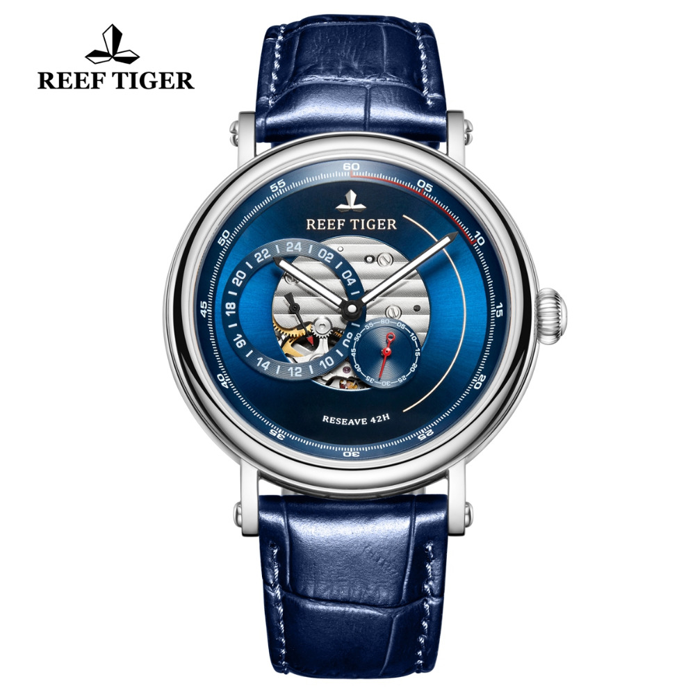 2019 Reef Tiger/RT Fashion Casual Watch Leather Strap Skeleton Automatic Watch Men Blue Designer Watches Gift for Men RGA16172019 Reef Tiger/RT Fashion Casual Watch Leather Strap Skeleton Automatic Watch Men Blue Designer Watches Gift for Men RGA1617