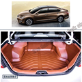free shipping 5d full cover fiber leather waterproof car trunk mat for nissan teana altima L33 2013 2014 2015 2016 2017