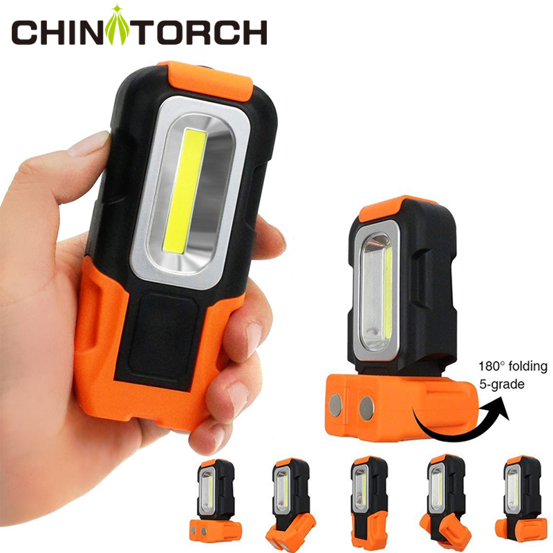 Portable LED Work Light NEW Multi-use COB Flashlight Magnetic Base & Hanging Hook Led Lantern For Emergency , Car Repairing