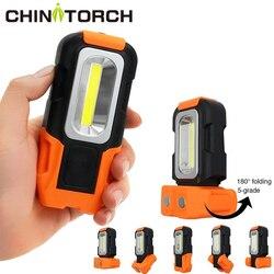 Tragbare LED Arbeit Licht NEUE Multi-verwenden COB Taschenlampe Magnetische Basis & Hängen Haken Led Laterne Für Notfall, auto Reparatur