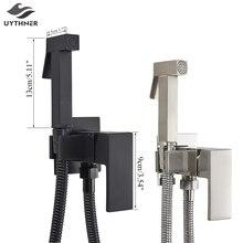 Uythner смеситель для биде, латунный смеситель для душа, смеситель для холодной и горячей воды, кран, квадратный душевой распылитель, кран, краны для туалета