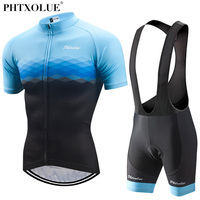 Phtxolue 2018 Cycling Sets Cycling Clothing Men Breathable Anti UV Bicycle Wear Bike Clothing Short Sleeve