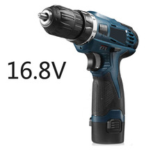 16.8V LED Cordless battery screwdriver Multi-function rechargeable drill impact drill cordless screwdriver  Power Tools