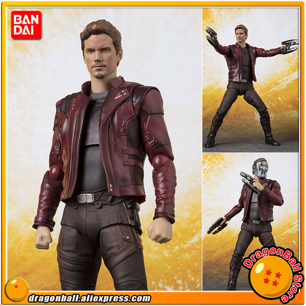 Avengers: Infinity War Original BANDAI Tamashii Nations S.H. Figuarts / SHF Action Figure - Star-Lord 100% original bandai tamashii nations s h figuarts shf action figure spider man homecoming