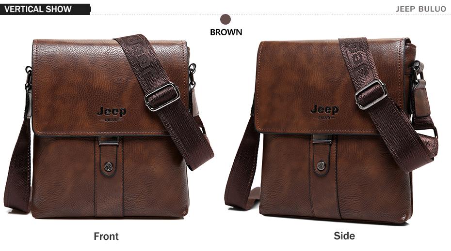 ff2b07d82eea JEEP BULUO Brand Men Bags Cow Split Leather Fashion Male Messenger Bags  Men s Briefcase Man Casual Crossbody Shoulder Bag 5848