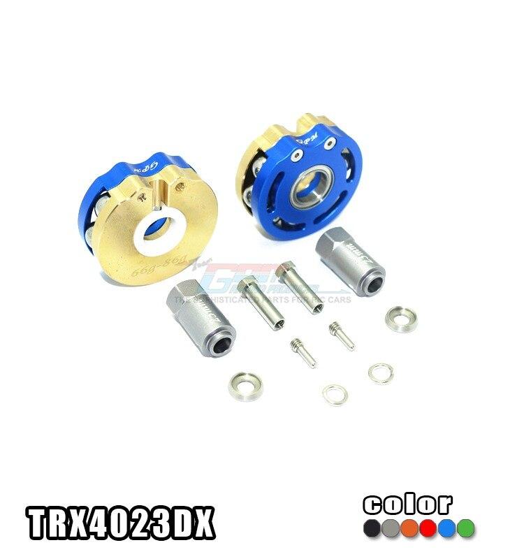TRAXXAS TRX-4 TRX4 82056-4 roue à pendule en laiton poids de l'essieu + fond en cuivre + anneau de sortie en métal + adaptateur hexagonal 23mm-set TRX4023DX
