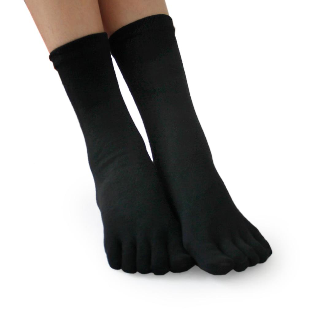 ①  2 пары унисекс носки с пятью пальцами ног дышащие термальные носки спортзала йоги ✔