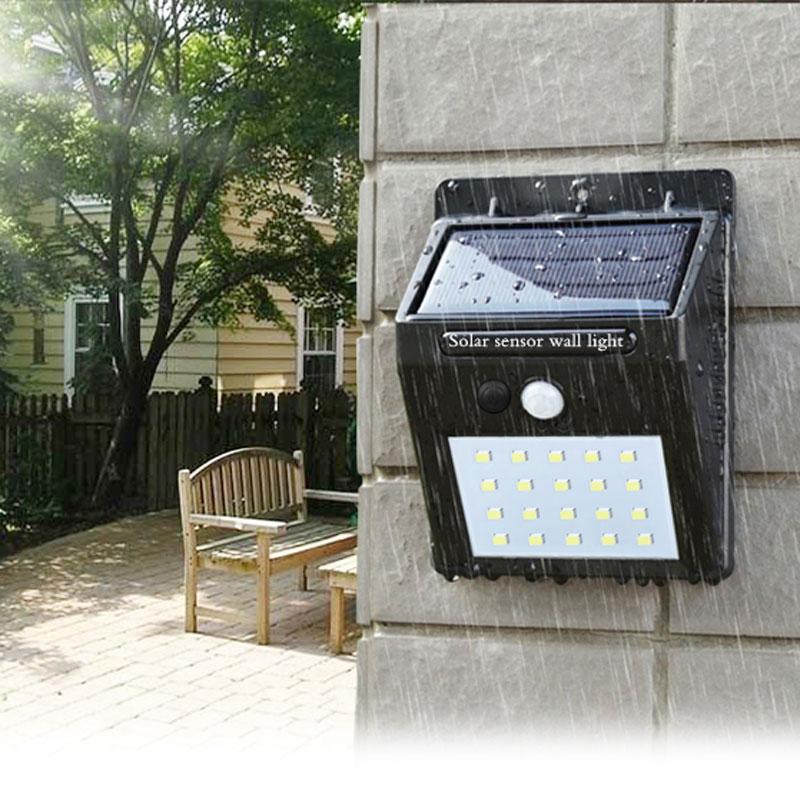 Lanterna LEVOU ao ar livre sensor de lâmpada de parede sensor de luz de rua solar do jardim à prova d' água automaticamente motion via pública Noite blubs