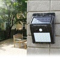 Светодиодный светодио дный фонарик наружный датчик настенный водостойкий Солнечный сад уличный свет датчик автоматически лампа движения общественная дорога ночь blubs