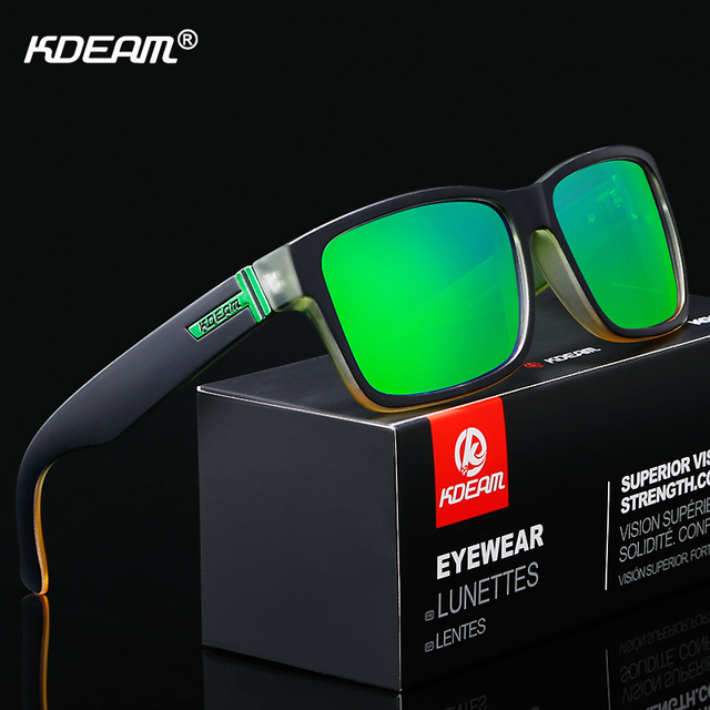 KDEAM Revamp Of Sport Men Sunglasses Polarized Shockingly Colors Sun Glasses Outdoor Driving Photochromic Sunglass With Box 5