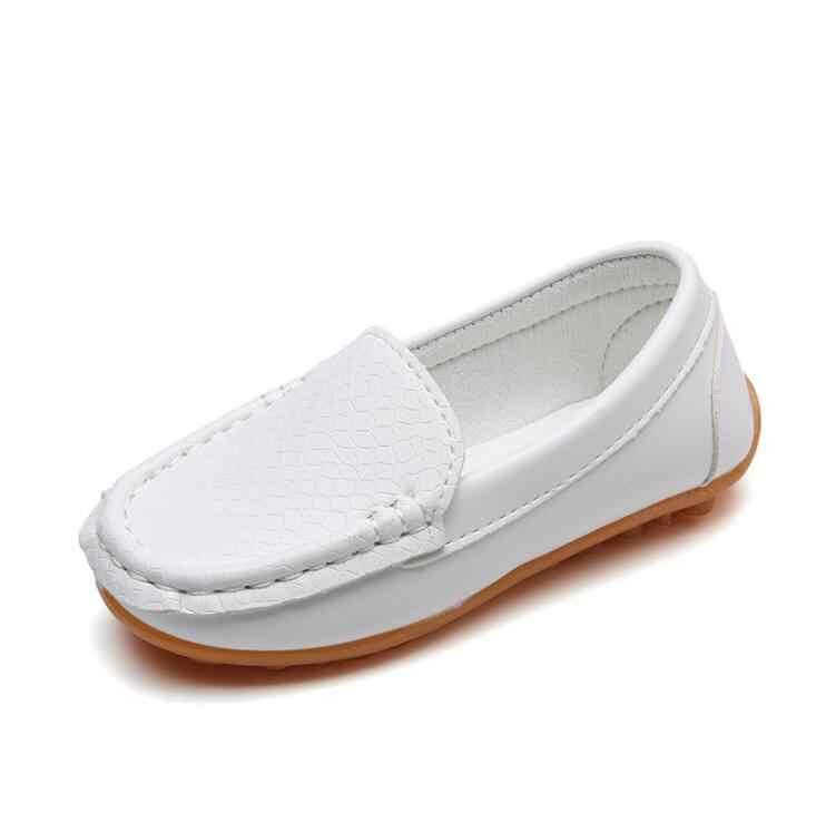 8 renk Unisex Çocuk Ayakkabı Tüm Mevsim Erkek Loafer'lar Yumuşak PU Deri Moccasins Kızlar Ayakkabı Boyutu 21-37 7HW0336