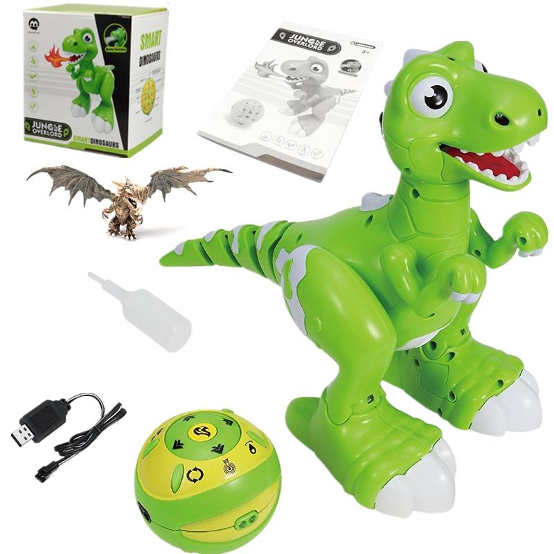 Купить с кэшбэком RC Dinosaur Robot Toys Gesture Sensor Interactive Remote Control Robotic Spary Dinosaur Smart Electronic Toys Radio Controlled