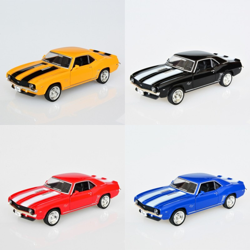 4 IN 1 Camaro SS 1969 1/36 alloy model car Kids Toys Cars Diecast Metal Pull Back Car Toy For Gift Collection