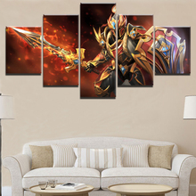 Canvas Printed Game Poster 5 Piece DOTA 2 Painting HD Print Decorative Picture Home Living Room Wall Art