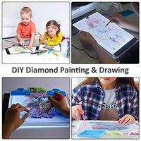 Hot DIY LED Light Board Dimmable Light Stand Clips Mesh Bag Painting Tools for Painting Sketching MDD88