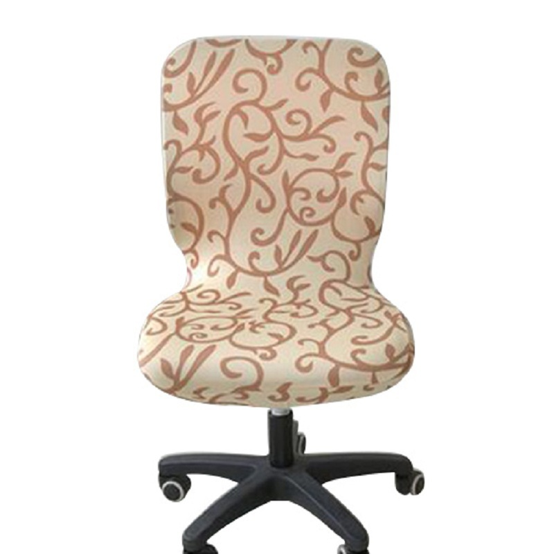 new rushed elastic office chair covers spandex seat for computer chairs dining cover stretch rotating