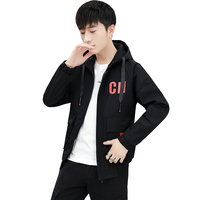 NEW Hooded Jacket Men Tops with letter printed Coat 2019 Spring Autumn Hip Hop Jackets Man Streetwear Casual young Jacket Coat