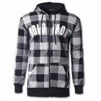 2018 New Fashion Zipper Hoodie Jacket Men S Sweatshirt Casual Plaid Hoodie Men Long Sleeves Hoodies