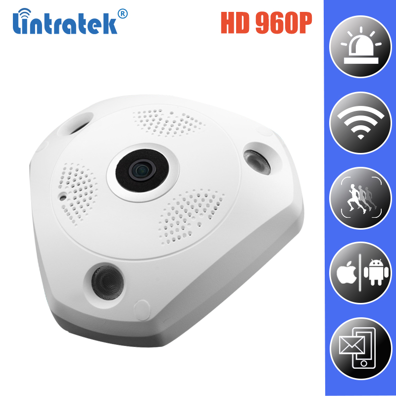 цена Surveillance wi-fi Panoramic Camera HD 960P 360 Degree WiFi Security IP Camera Fisheye Wireless Two-way Audio Home Monitor Cam