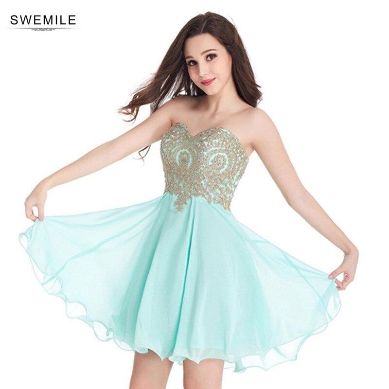 Sexy Backless Lace Short Prom Dresses  Cheap 12 Colors Appliques Chiffon Mini Party Dresses Vestido De Festa Curto Платье