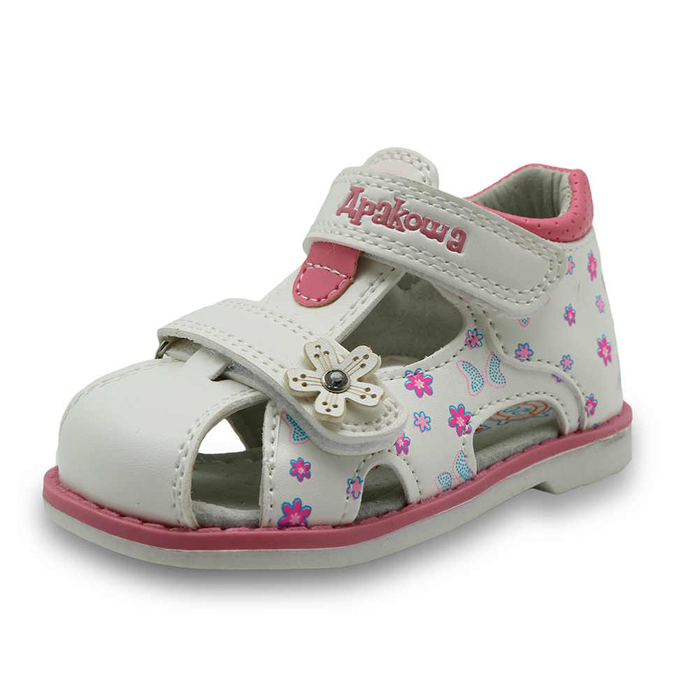 Apakowa Pu Gadis Kulit Sepatu Anak-anak Musim Panas Bayi Perempuan Sandal Sepatu Skidproof Balita Bayi Anak Anak Sepatu Dukungan Arch