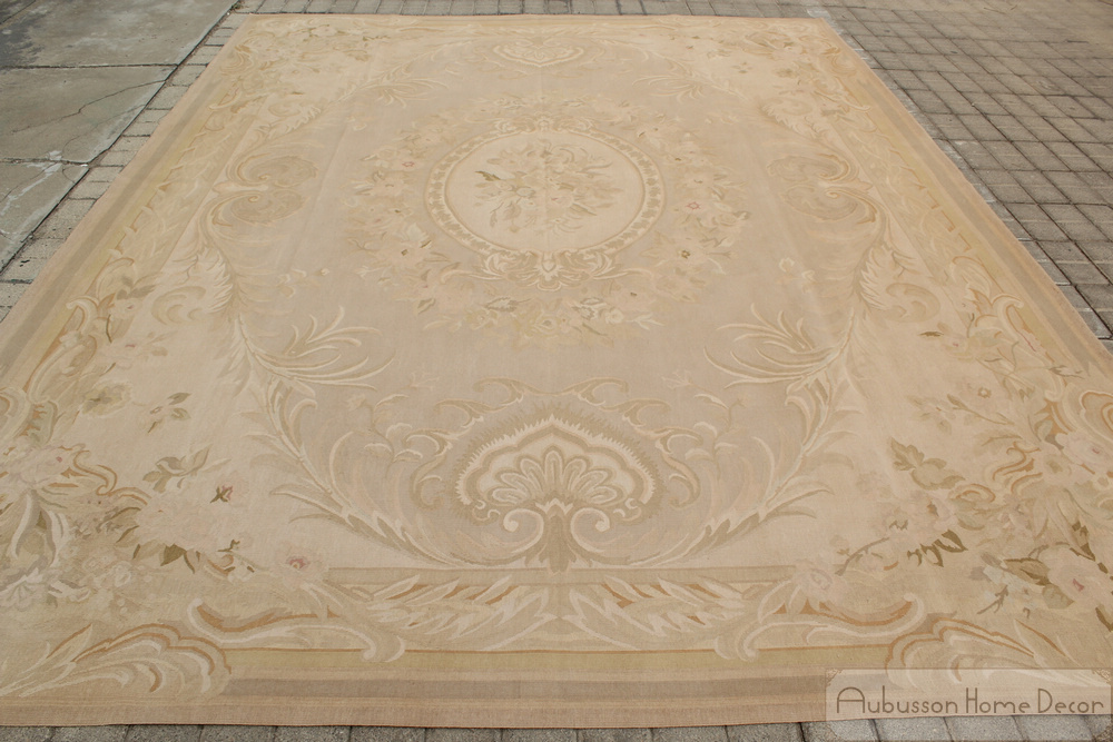 7x10 Antique French Decor Aubusson Area Rug Pastel Country Home