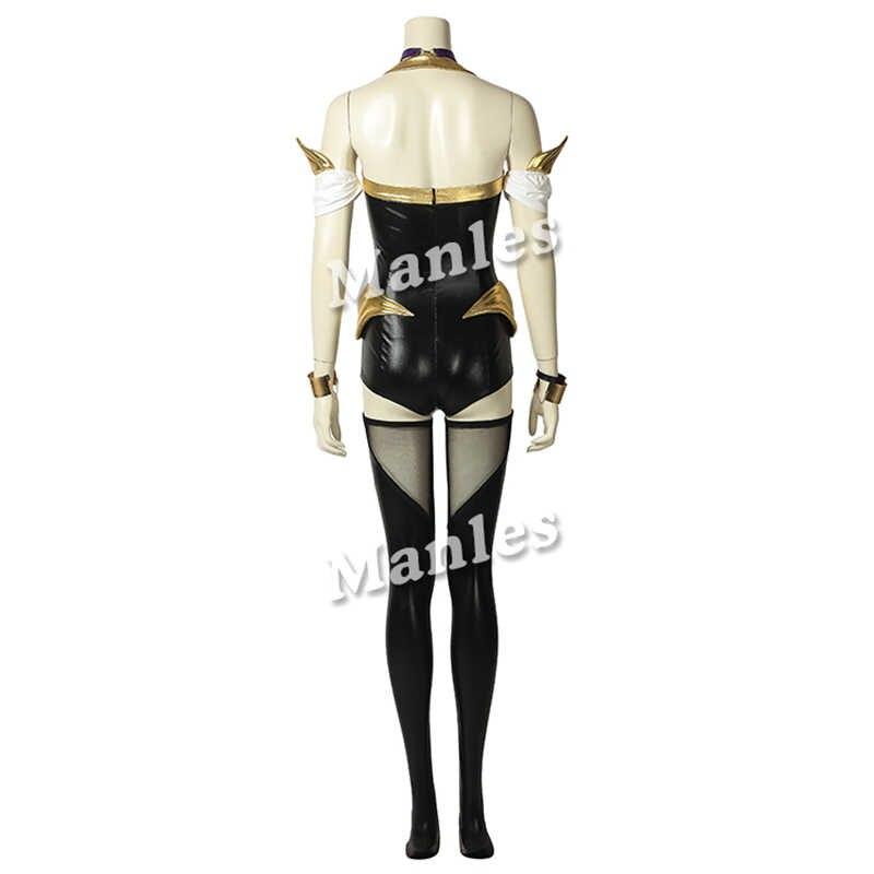 ゲーム LOL 衣装 KDA Ahri コスプレ革制服伝説のリーグ Ahri セクシーなファンシー新しいスキンハロウィン女性衣装スーツ