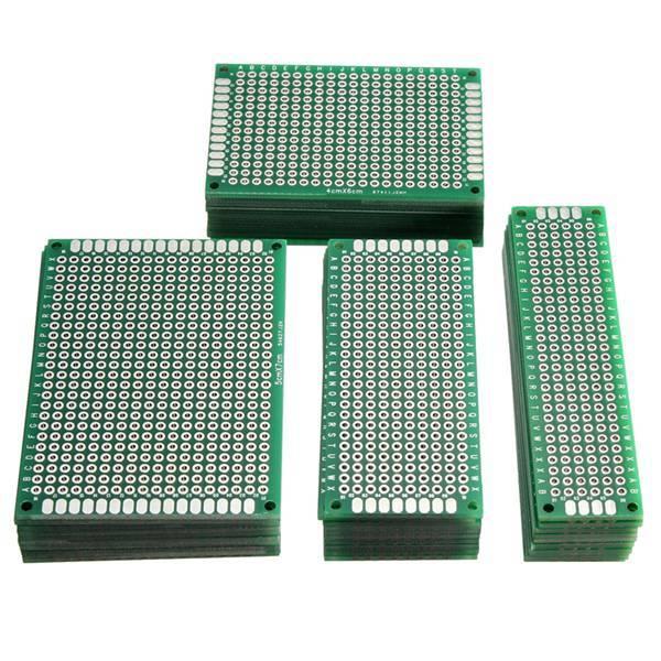 Venta al por mayor 40 unids FR-4 de doble lado prototipo PCB placa de circuito impreso