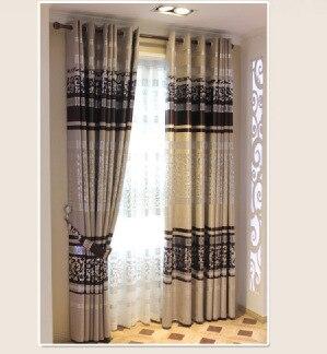 estilo chino cortina blackout persianas cortinas para el dormitorio plata presionado para la sala de estar