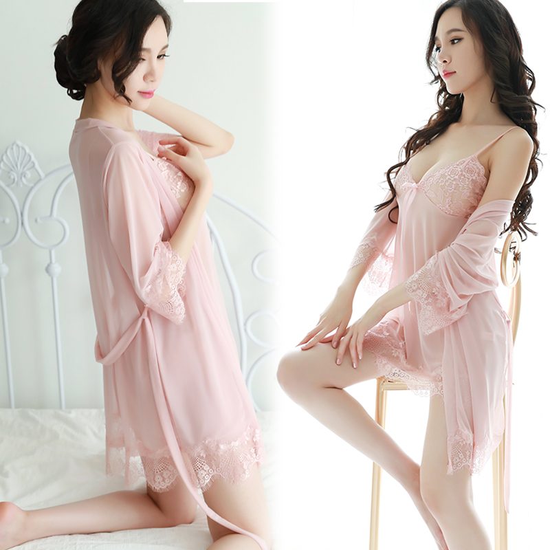 Women Robe Babydolls Sexy Lace One Size Lingerie   Nightgown     Sleepshirts   Homewear   Nightgowns   For Ladies Sexy Lingerie Sleepdress