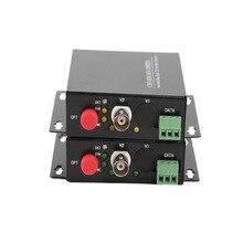 1 ch conversores de mídia óptica de fibra de vídeo 1 receptor de transmissor bnc rs485 único modo de dados 20 km para o sistema de vigilância do cctv