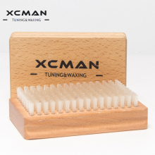 XCMAN Ski Waxing Nylon Brush Tools With Nice Nature Beech Wood