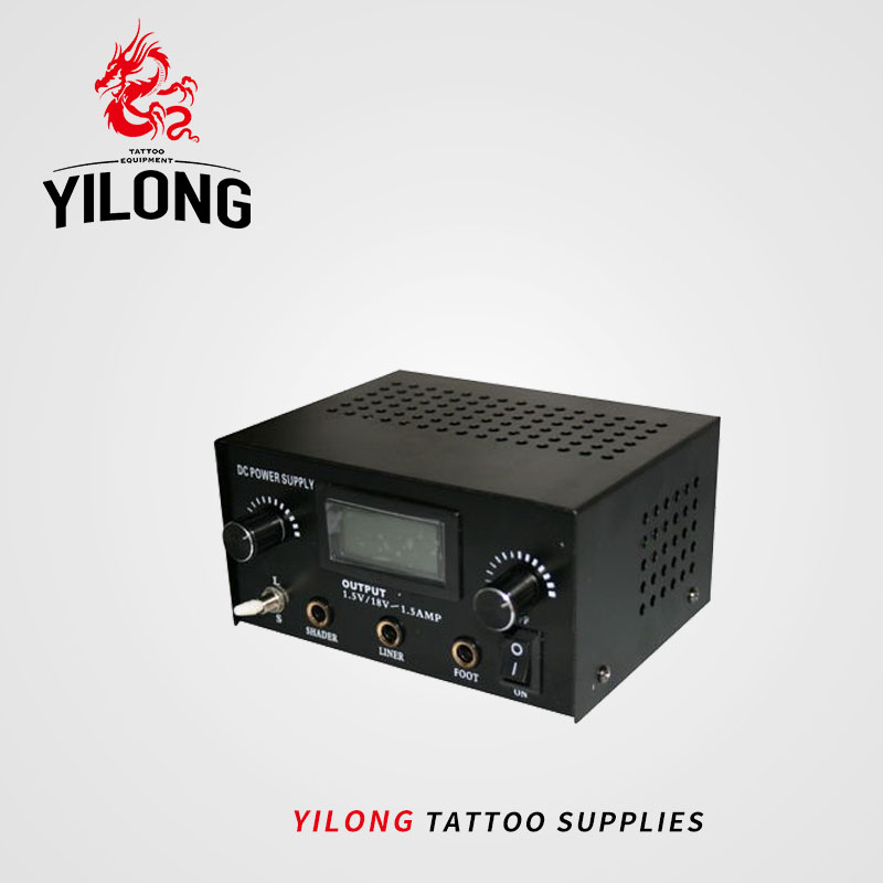 Consiglia Acciaio Inox Dual Digital LCD Alimentazione elettrica Del Tatuaggio Nero Della Macchina Del Tatuaggio Alimentazione Tatoo Body Art Alimentazione Spedizione Gratuita
