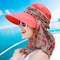 Sol-shading de Las Mujeres Sombreros de Verano Playa Protector Solar Casquillo de la Playa Femenino Plegable Flor Precio Señora Sombrero de Sol de Moda