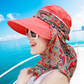 Sun-shading Women Summer Hats Beach Female Beach Sunscreen Cap Large Folding Flower Price Lady Fashion Sun Hat