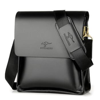 Хит! Брендовая Высококачественная кожаная сумка-мессенджер, модная мужская сумка через плечо, деловая сумка через плечо, повседневный порт...