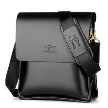 Sıcak!!! Marka yüksek kaliteli deri askılı çanta, moda erkek omuzdan askili çanta iş çapraz vücut çanta rahat evrak çantası 3012