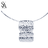SA SILVERAGE Real 925 Sterling Silver collares necklace women Summer style silver 925 jewelry choker 2017 colar masculino