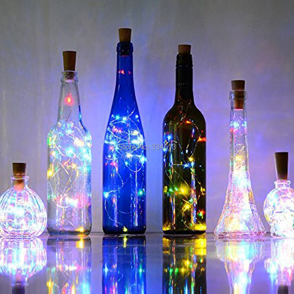 1/3/6/12pcs Battery Powered 1M 2M String Lights, Christmas Wedding Party Decorative Bottle Cap Cork Shaped Fairy Lights