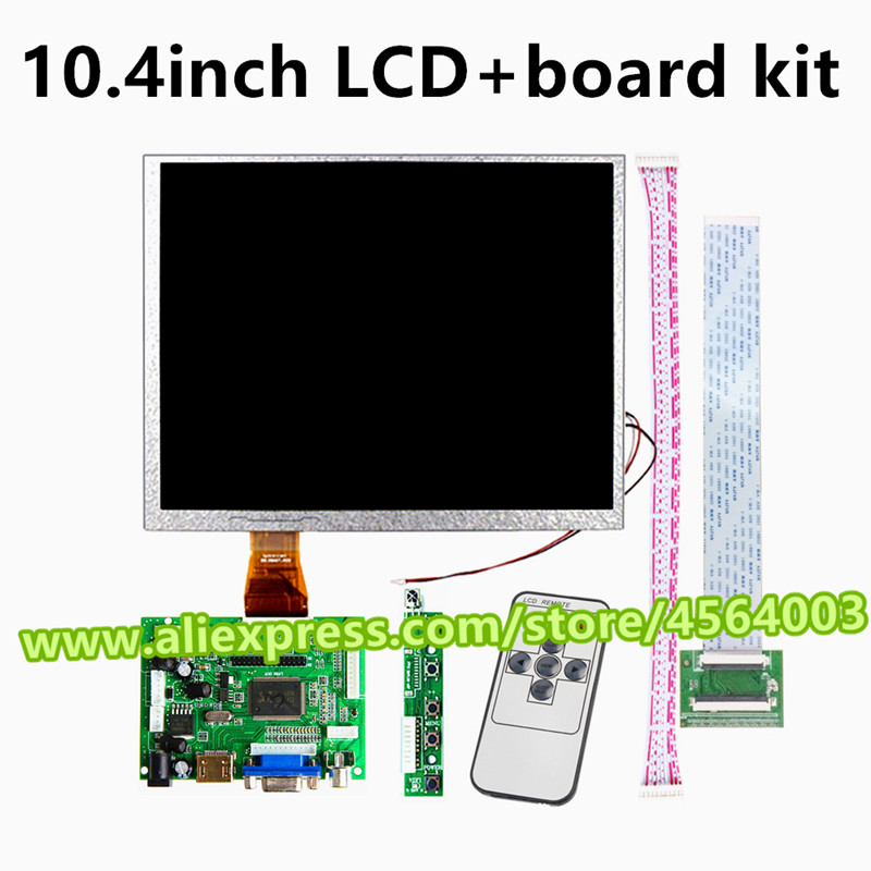 10.4 inch 800*600 60pins 4:3 display monitor A104SN03 V.1 V1 LCD Controller driver board HDMI VGA 2AV Module for Raspberry Pi image