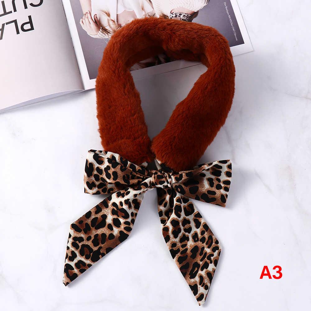 1pc Nieuwe Elegante Faux Fur Zachte Rode Luipaard Print Sjaal Voor Vrouwen Hals Sjaals Warmer Sjaal Pluizige Kraag Wrap mode Accessoires